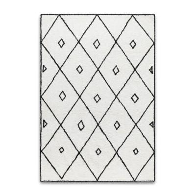 Marokko Teppich | Schwarz und Weiß 140 x 200 cm