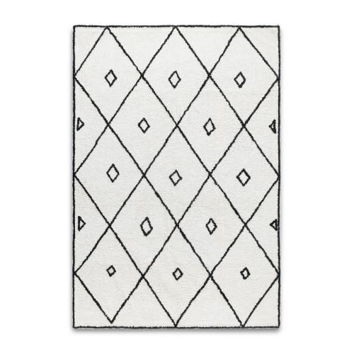 Morocco Rug | Black and White 140 x 200 cm