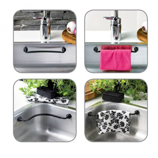 Magnetic Cloth Rail | Flexible with Counter Magnet-Black