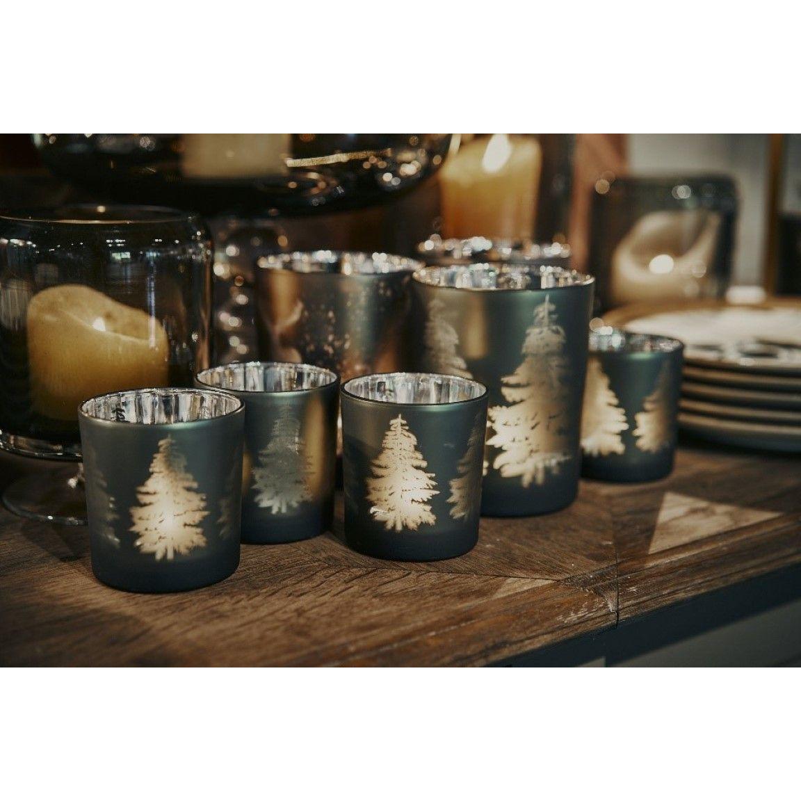 Teelichthalter Forrest | Braun