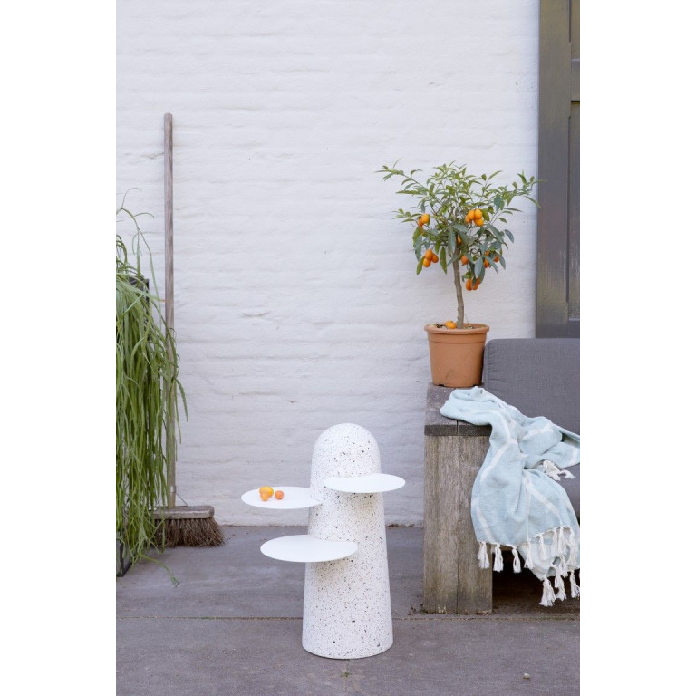 BoBo Sidetable | White with White Leaves
