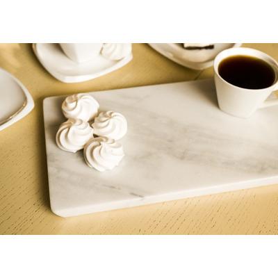 Tablett Marmor I Weiß