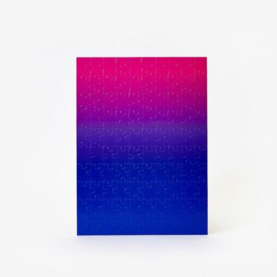 Puzzle Gradient 100 Teile | Blau & Rosa