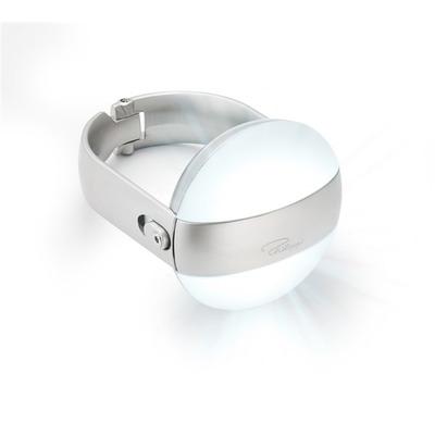 Kleiderbügel mit Licht   Weiß-Silber