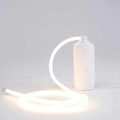 Kunstharz Led Lampe Sprayglow | Weiß