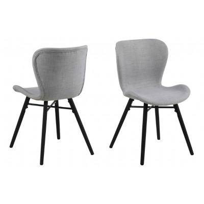 2-er Set Stühle Matilda-A1 | Hellgrau & Schwarz