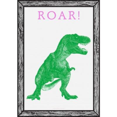 Art Print Roar! | Grün