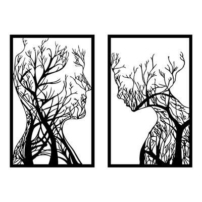 Dekoratives Wandzubehör aus Metall Lutuf l Schwarz