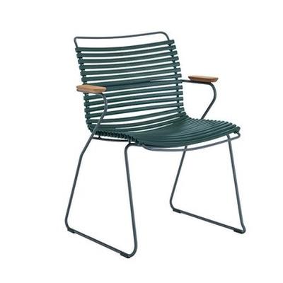 Gartenstuhl mit hoher Rückenlehne Click | Tannengrün