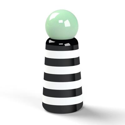 Wiederverwendbare Trinkflasche Skittle | 30 cl | Streifen & Minzgrüne Deckel
