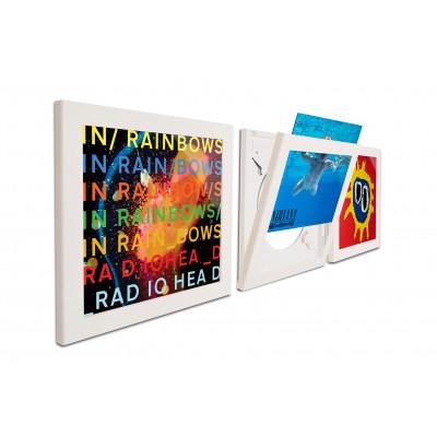 3er-Set Art Vinyl Flip Frames | Weiß