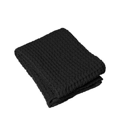 Handtuch Waffelstruktur 50 x 100 cm | Schwarz