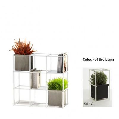 Modulares Pflanzengestell 9x Weiß + 2 Anthrazit Taschen
