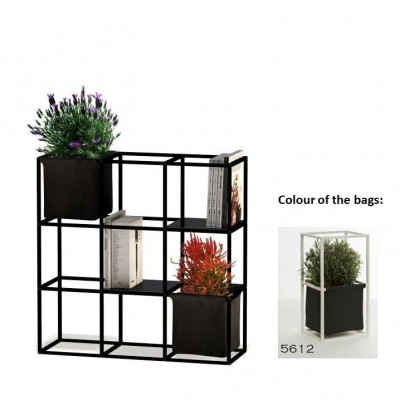 Modulares Pflanzengestell 9x Schwarz + 2 Anthrazit Taschen