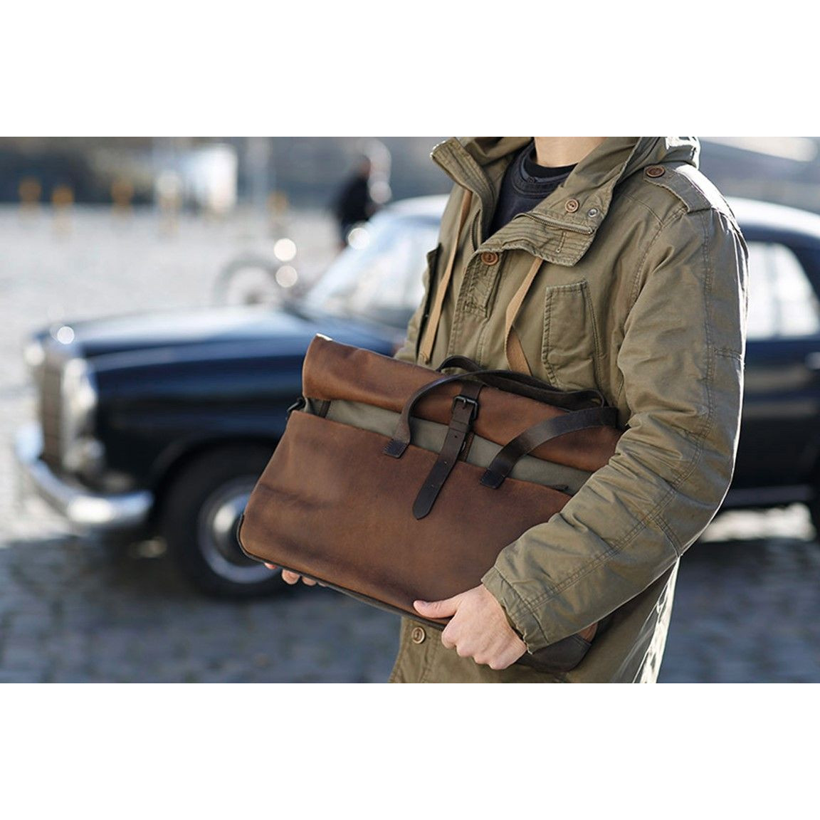 Leather Briefcase Medium