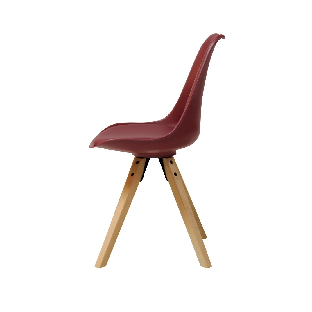 Dining Chair Knivar   Burgundy Red