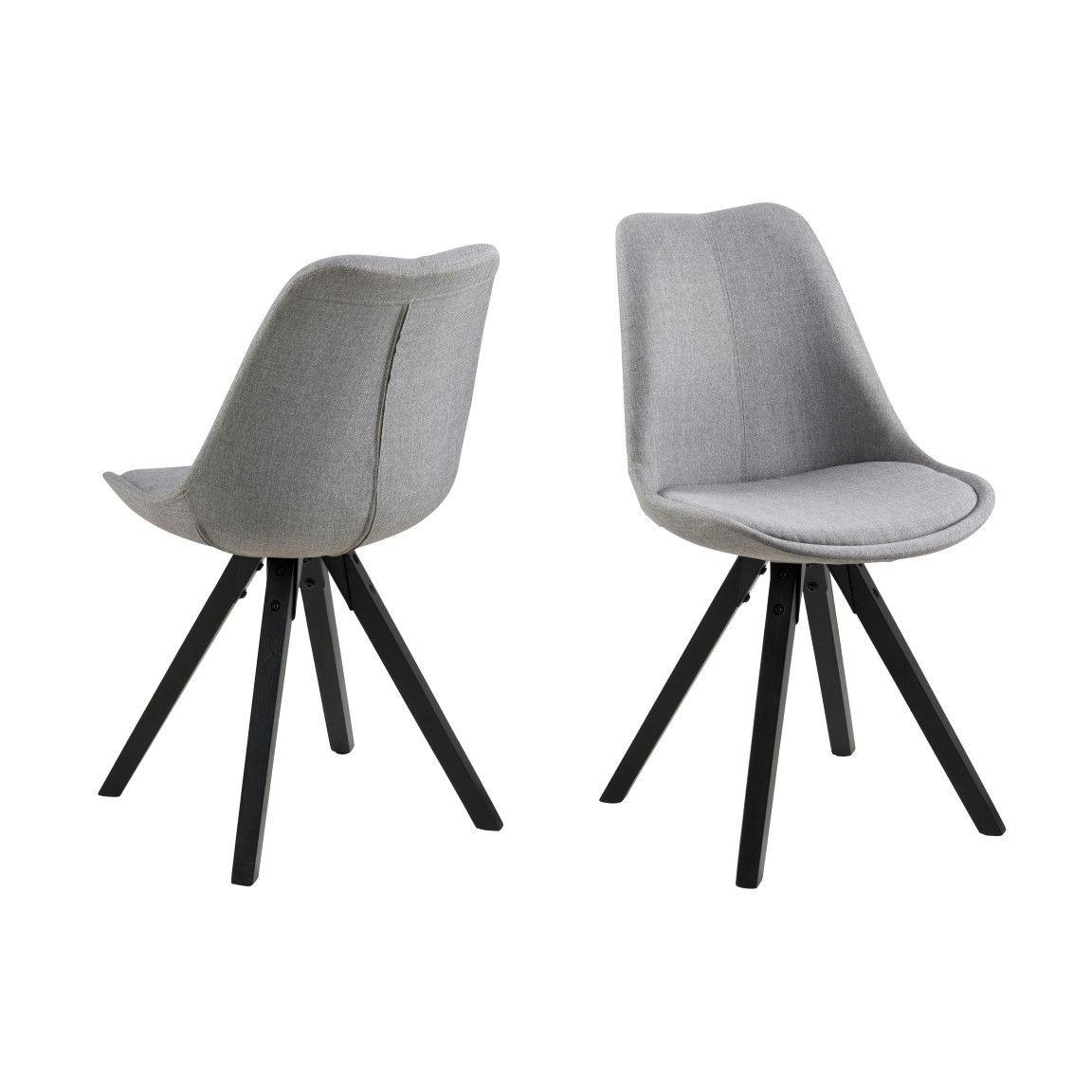 Set of 2 Chairs Nida   Grey