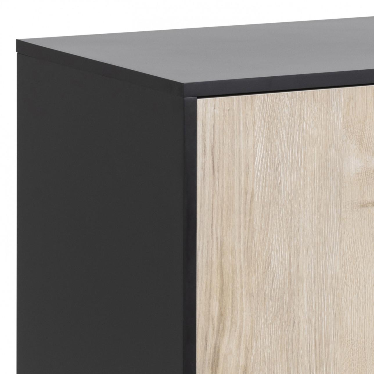 Sideboard Stanley 3 Doors   White Wash/Black