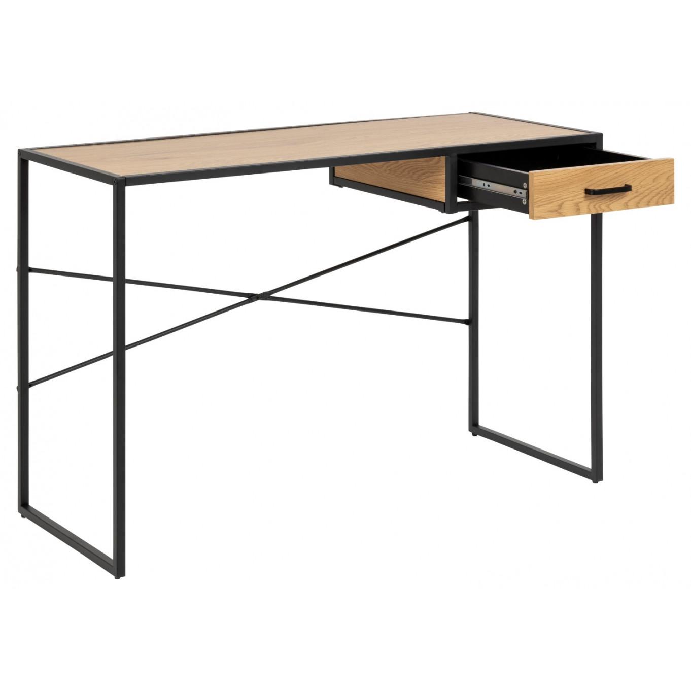 Desk Stanley with Drawer | Oak Wood