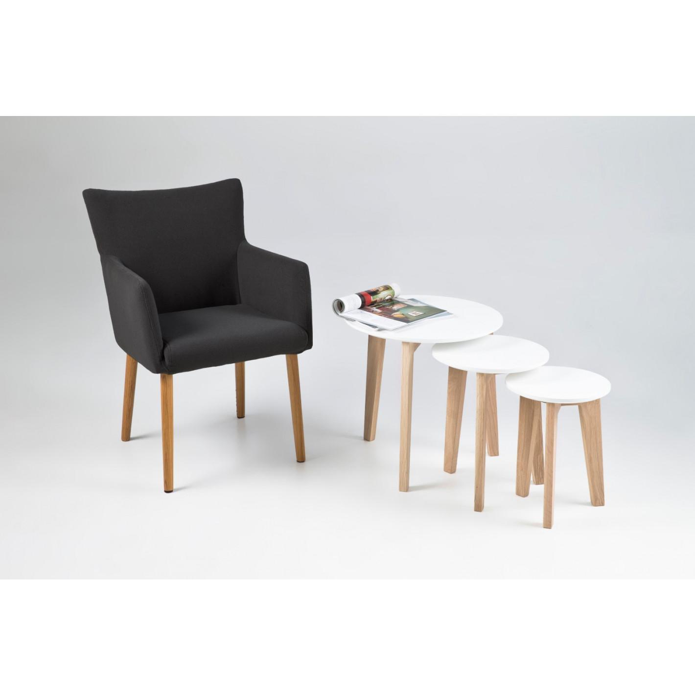Set of 3 Coffee Tables Niba | White