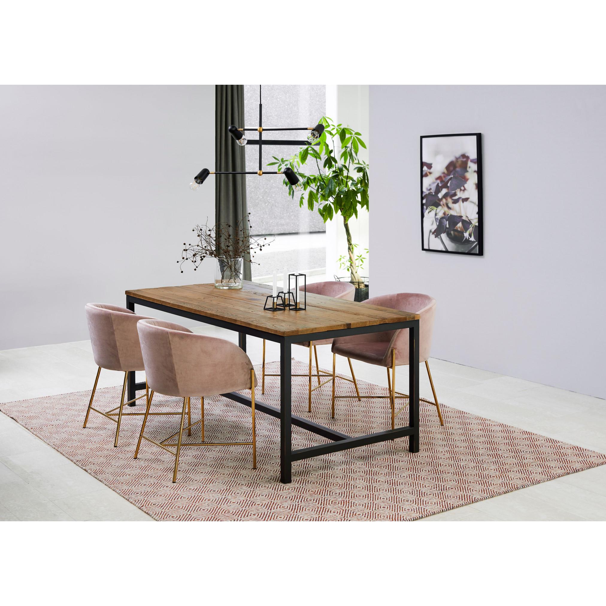 Dining Table Vin Large   Dark Wood