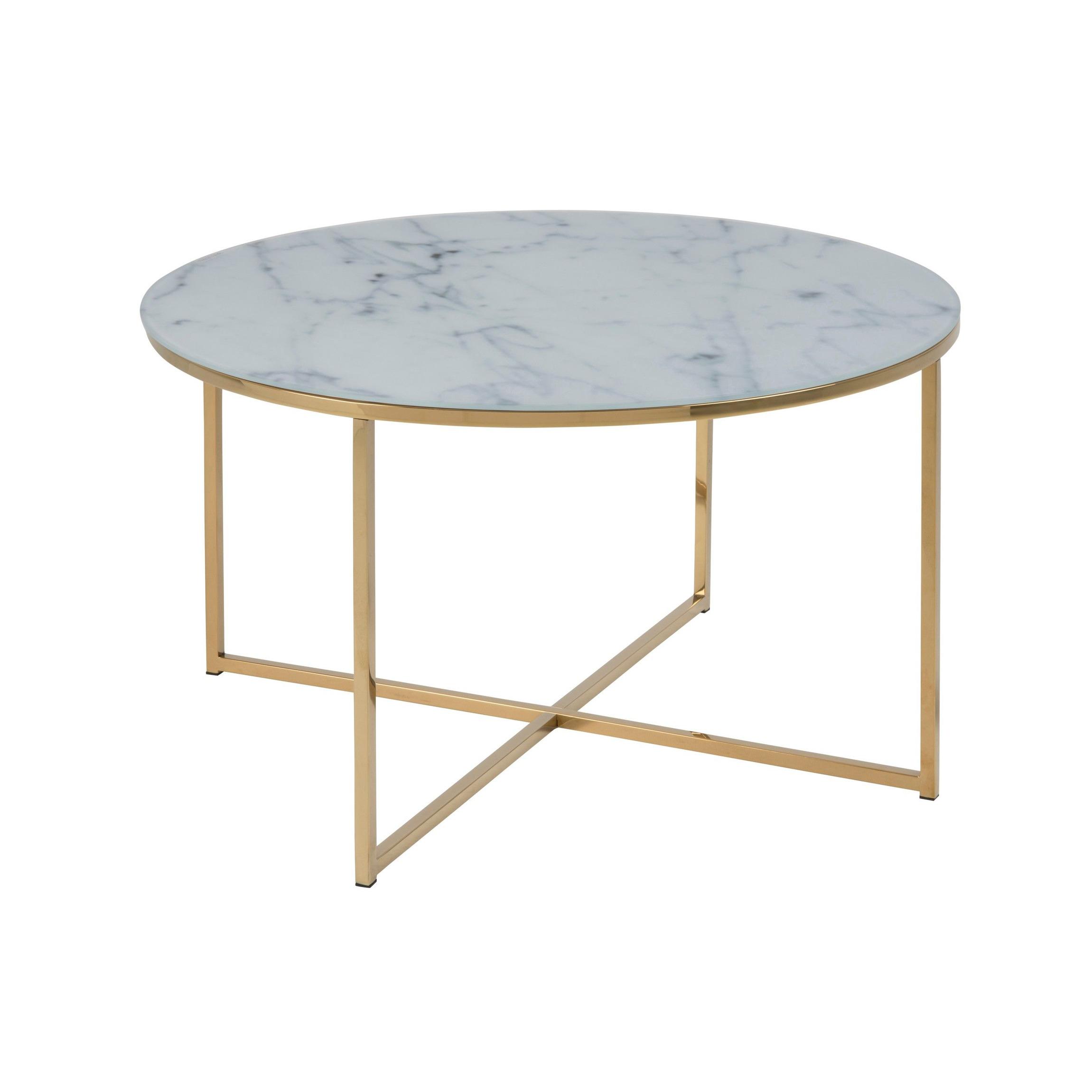Coffee Table Alisma Ø 80   White Marble