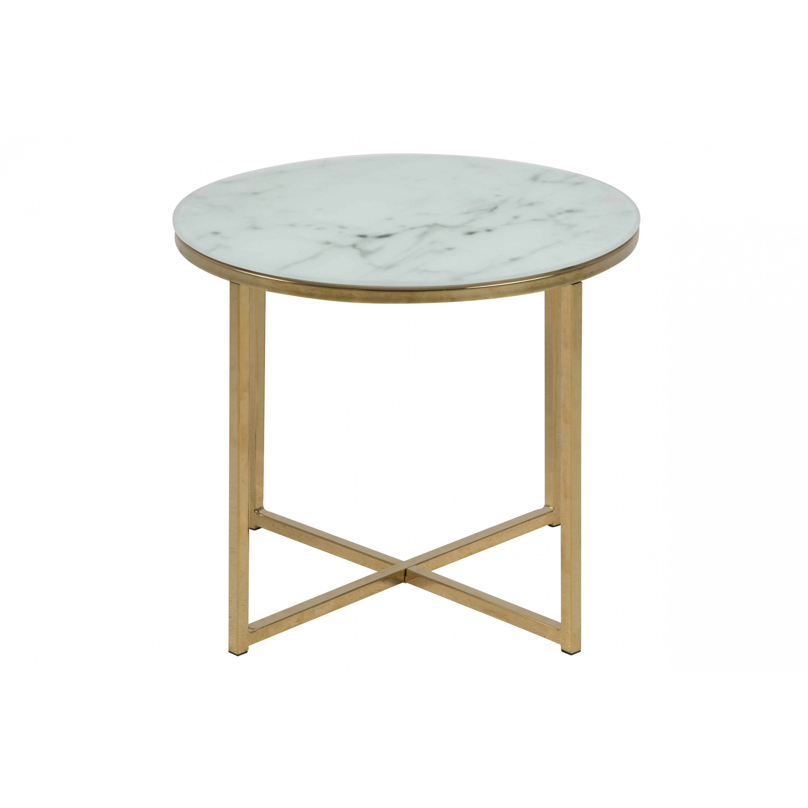 Table d'Appoint Ali Ø 50 | Blanc Marbre