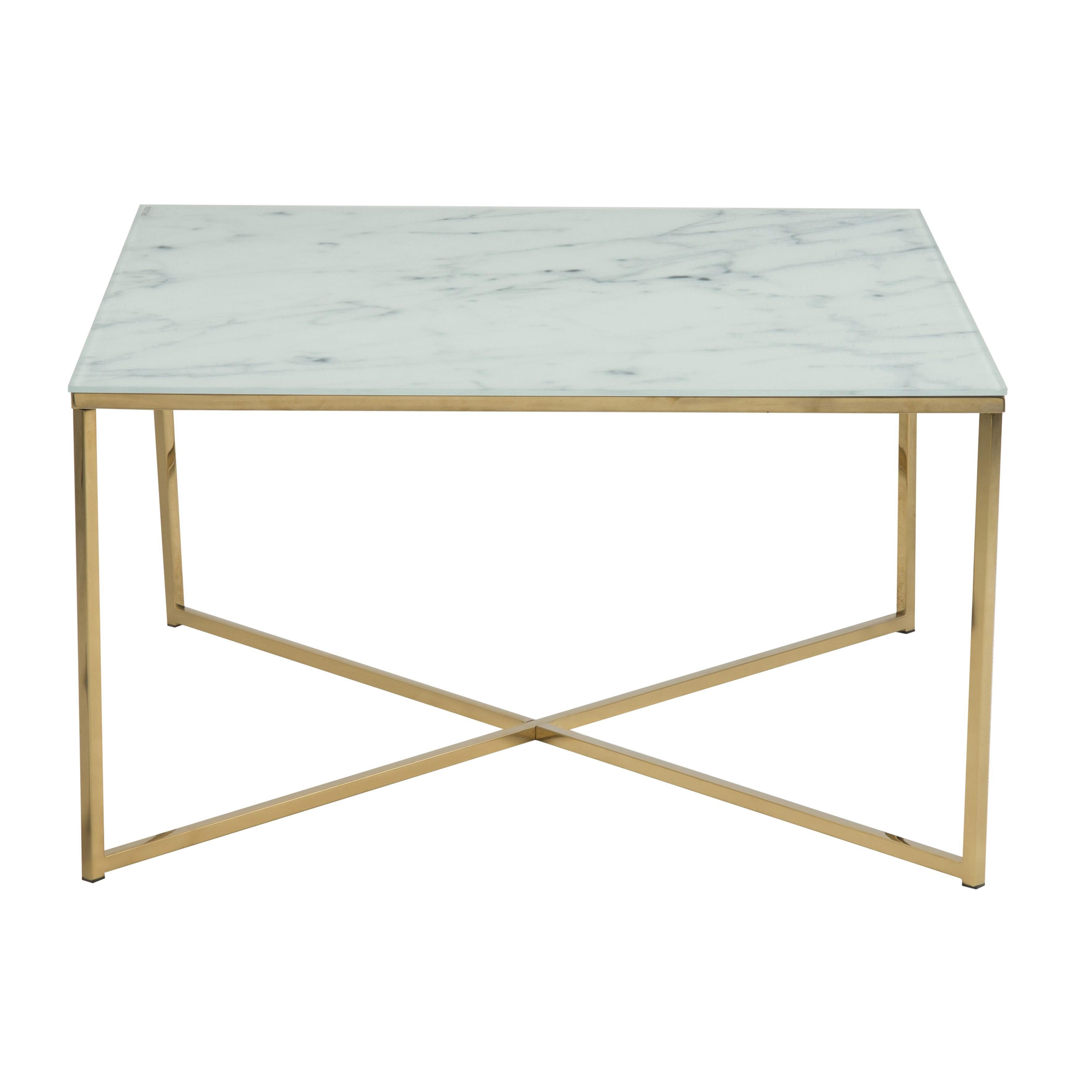 Coffee Table Ali 80 x 80   White Marble