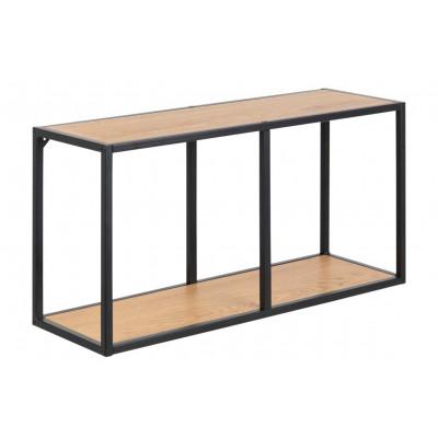Bookcase Stanley Low | Oak/Black