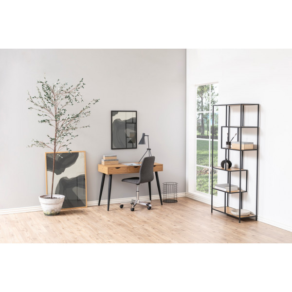 Bookcase Stanley High | Oak / Black
