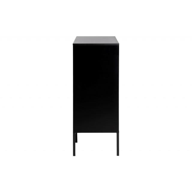 Sideboard Stanley 4 Doors   Black