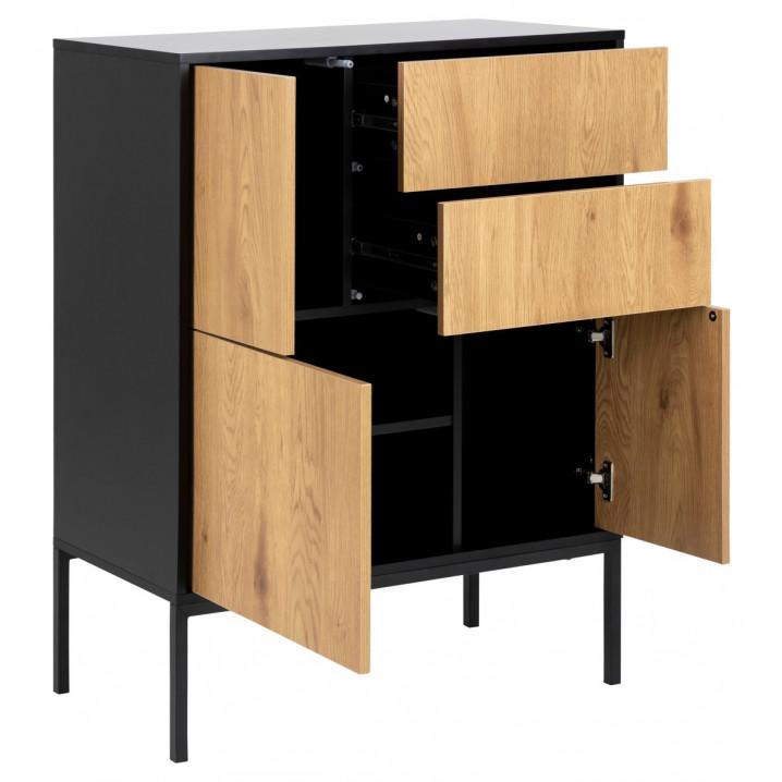Sideboard Stanley 3 Doors 2 Drawers | Black