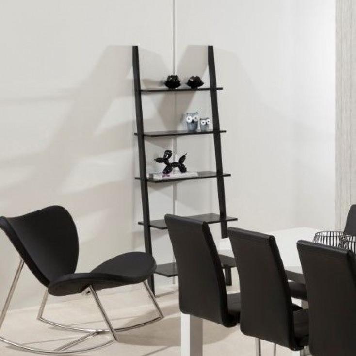 Wall Unit 5 Shelves Mimi   Black