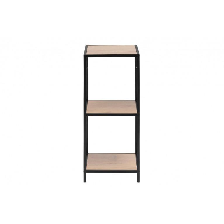 Wall Unit Stanley 3 Shelves | Oak/Black