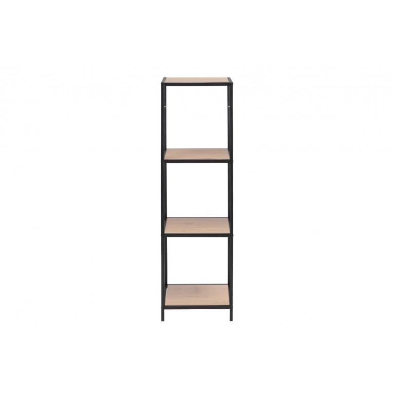 Wall Unit Stanley 4 Shelves | Oak/Black