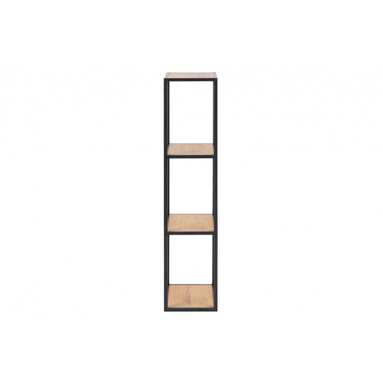 Bookcase Stanley Small | Oak / Black