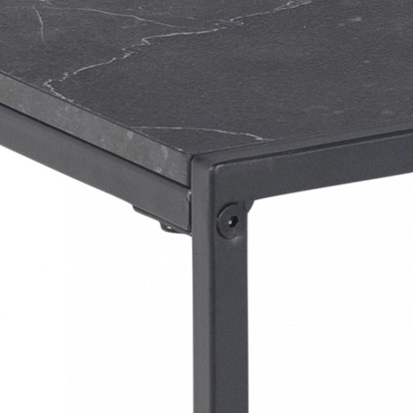Side Table Infinity 63 x 19 x 26 cm   Black