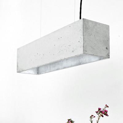 Pendelleuchte B4 | Hellgrauer Beton + Silber