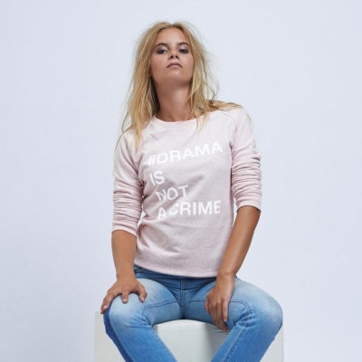 #Drama Is Not a Crime | Long Sleeves Sweater Pink