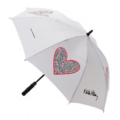 Umbrella Single Heart | White