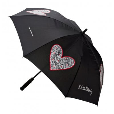 Umbrella Single Heart | Black