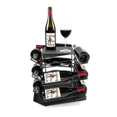 VINCENT Wine Rack 12 Bottles | Black