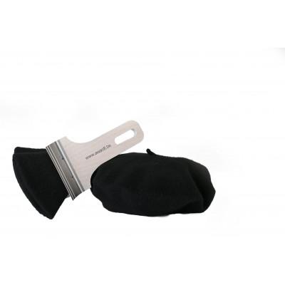 Baskenmütze in Pinselverpackung | Schwarz