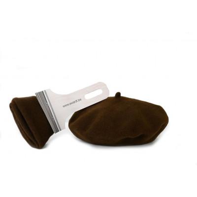 Baskenmütze in Pinselverpackung | Braun