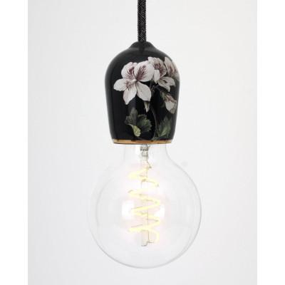 Porcelain Pendant #Flowers | Black