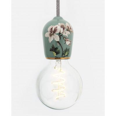 Porcelain Pendant #Flowers | Green