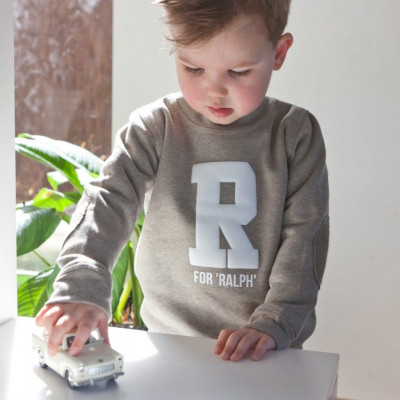 Mini Sweater with Letter | Olive