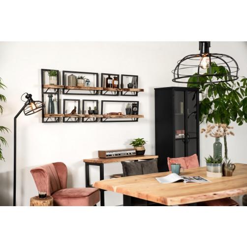 Wall Shelf Levels Live Edge 32x32 cm Acacia Wood