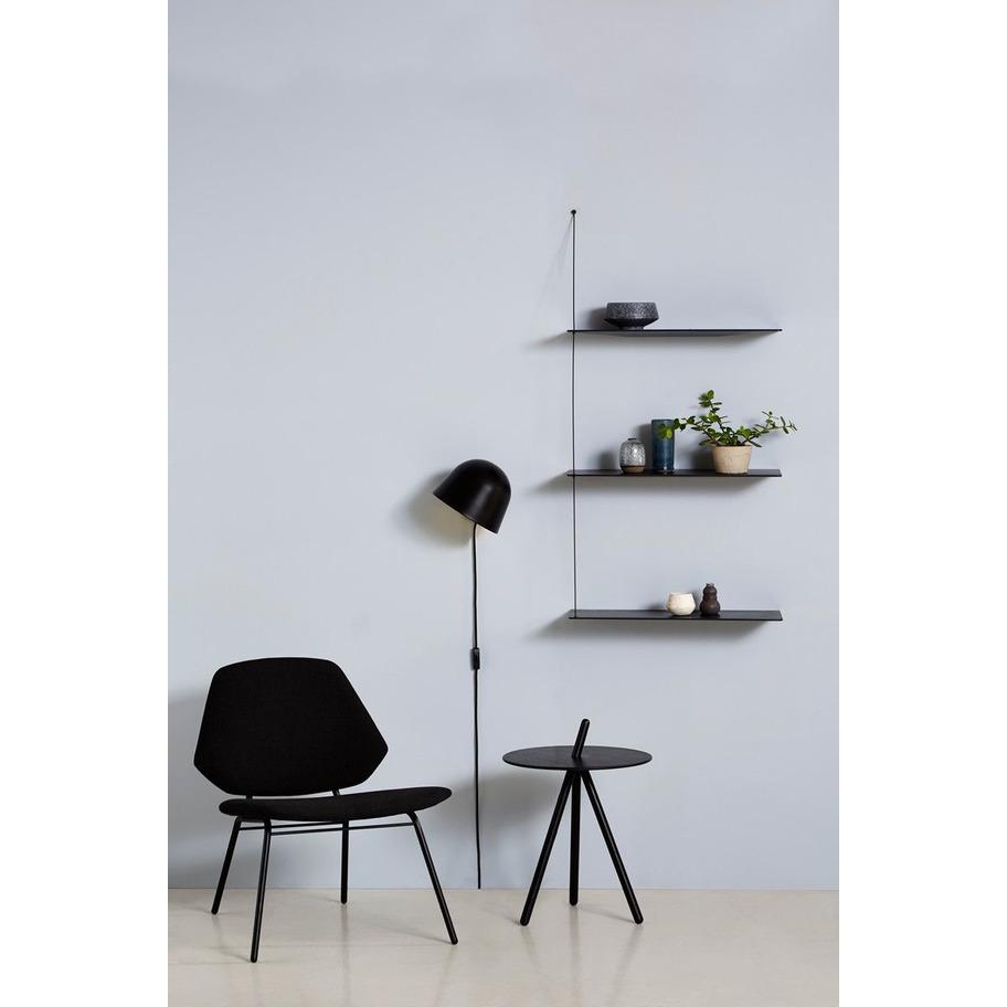 Shelf Stedge | Black Painted Oak Large