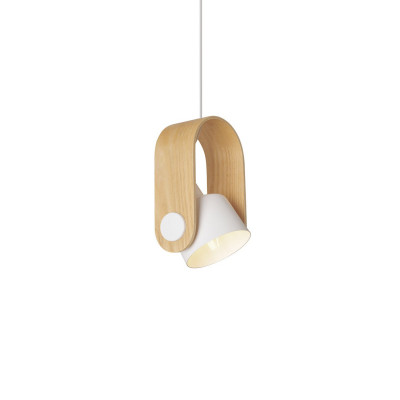 Pendelleuchte MD2314   Holz & Weiß